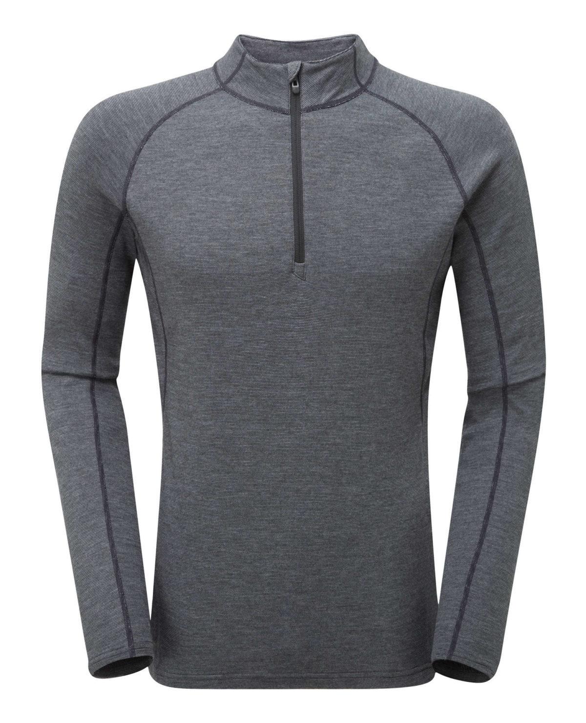 Motnae Primino mirino wool and Primaloft mix long sleeved top with zip neck